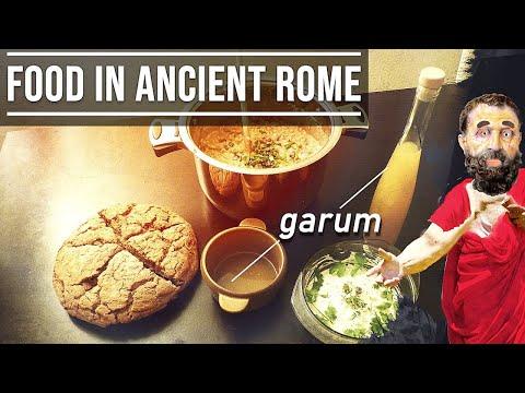 Food in Ancient Rome (Cuisine of Ancient Rome) - Garum, Puls, Bread, Moretum
