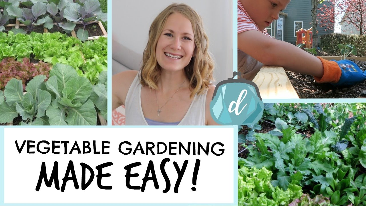 How To Start An EASY Vegetable Garden! (Small Space Square Foot Garden)