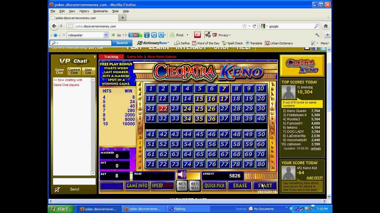 Free Keno Online
