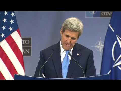 Secretary Kerry Holds Press Availability at the NATO Ministerial in Brussels