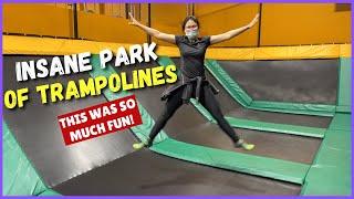 This INSANE Indoor TRAMPOLINE PARK Was So Much FUN!   SHE ALMOST GOT HURT!