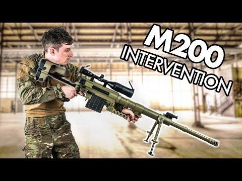 M200 Cheytac Intervention - 10kg Airsoft Sniper Gameplay