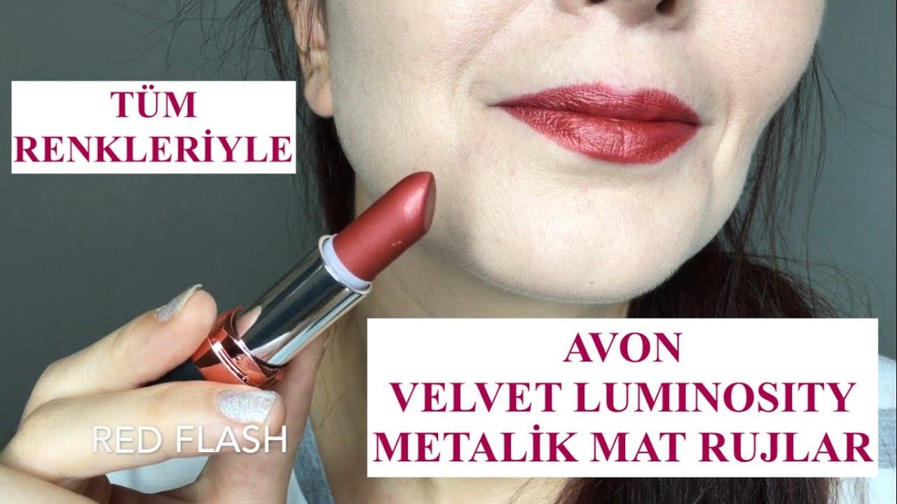 Avon Velvet Luminosity Metalik Mat Rujlar 15 Renk Swatch Gökçe