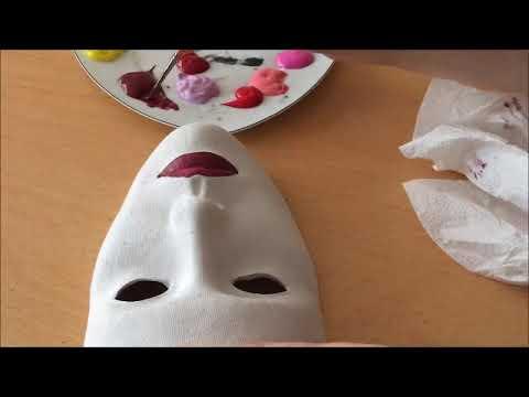 Remix çiçekli Maske Yapilişi Falower Mask Painting Izle öğren