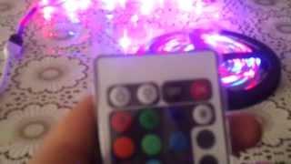 светодиодная лента rgb, с пультом управления разноцветная купленная на aliexpress(лента отлично вписывается в любой интерьер., 2014-02-12T16:09:44.000Z)