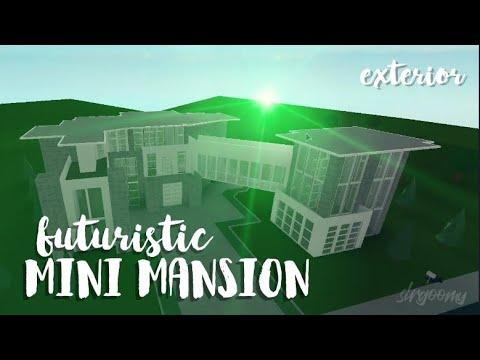 Roblox Houses For 50k Mini Mansion Bloxburg Futuristic Mini Mansion 50k Exterior Speedbuild Youtube