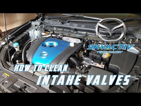 How to Clean Intake valves / Carbon clean // Mazda CX 5 (All Skyactiv Gasoline Engines)