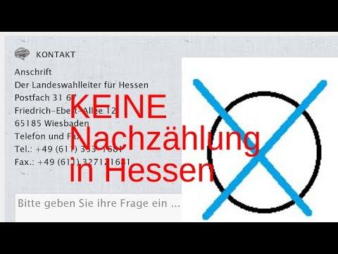 KEINE Neuauszählung bei Hessenwahl. Wollte Nachzählung beobachten. Wahlleitung kontaktiert.