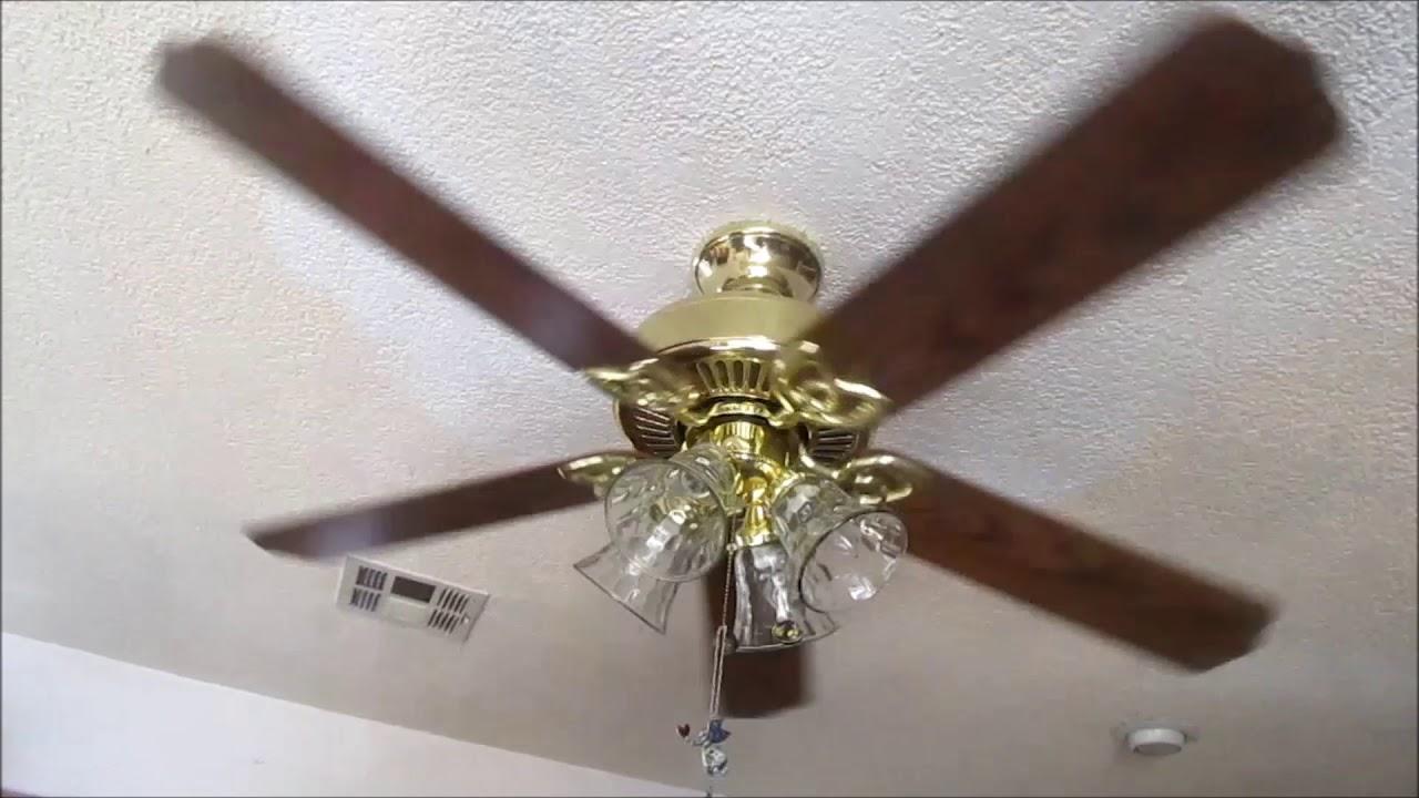 Hampton Bay Huntington III ceiling fan (update/oak wood ...