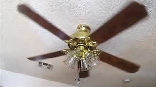 Hampton Bay Huntington Iii Ceiling Fan Update Oak Wood Blades Youtube