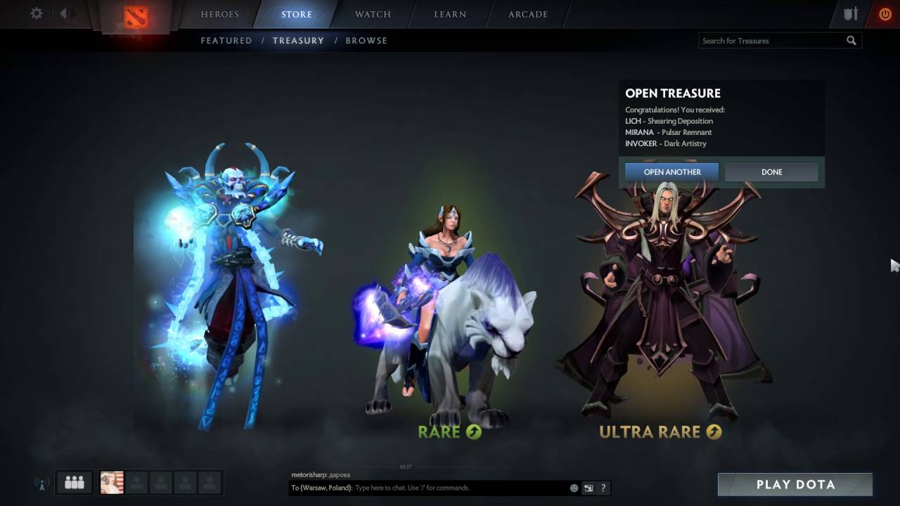 Immortal Treasure Ii Dotafire: TI6 2016 Immortal Treasure II 30 Chests + Rare + Very Rare