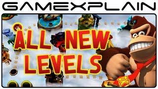 All 8 New Cloud Gateway Levels in Donkey Kong Country Returns 3D (Nintendo 3DS)