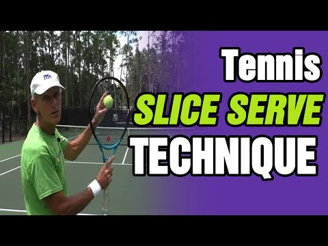 Best Tennis Slice Serve Technique - Tom Avery Tennis