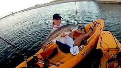 """PACKERY CHANNEL"" Big Redfish on Cut Mullet - Corpus Christi, Texas"