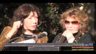 Lily Tomlin and Jane Wagner receive a star on the Palm Springs Walk of Stars with fan interviews