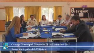 Concejo Municipal Miércoles 21 de Diciembre 2016