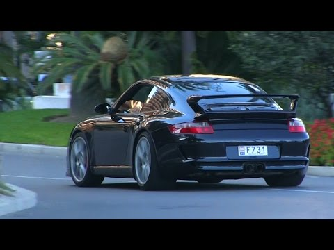 CRAZY Porsche 997 GT3 in Monaco | BURNOUT + Powerslides