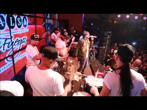 Don Miguelo Live on Stage at Salsa Con Fuego.