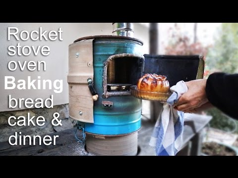 Rocket Stove Oven Cooking - Baking Bread, Cake And Dinner