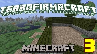 Minecraft TerraFirmaCraft: Divey Play's EP 3 (Home Building)