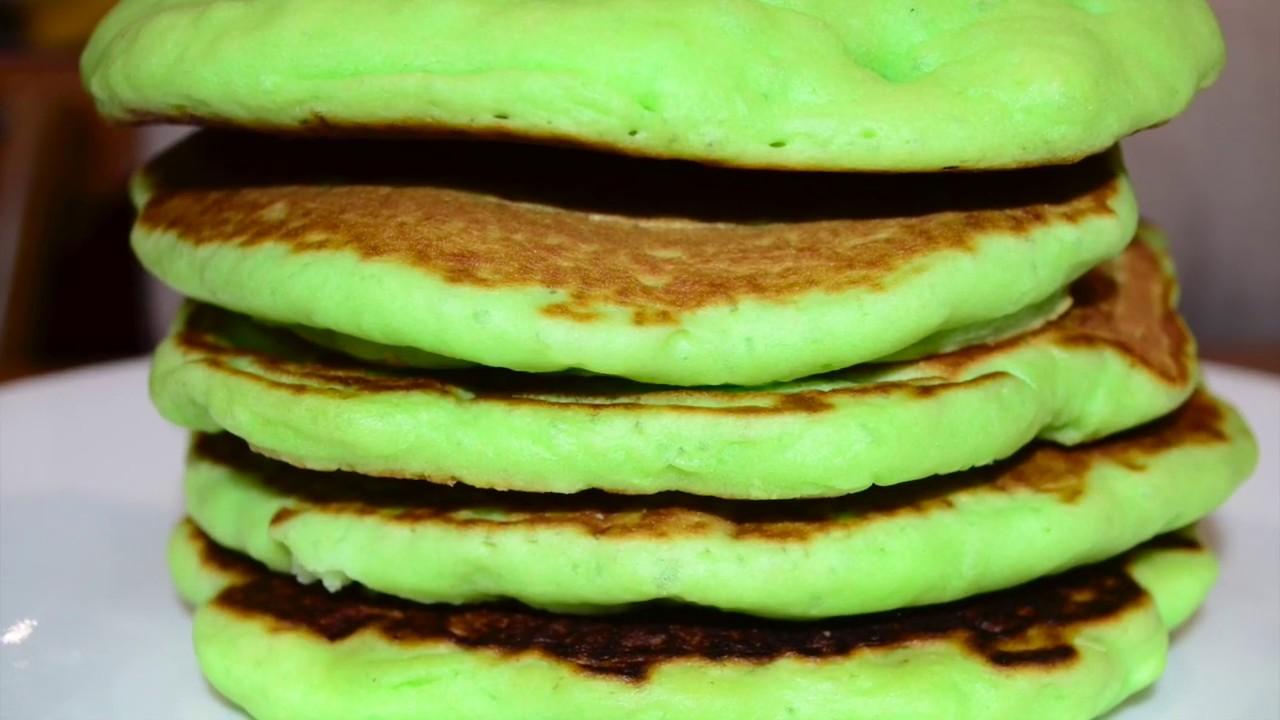 Pandan Pancake -Soft and Fluffy Recipe. Green Pancake. - YouTube