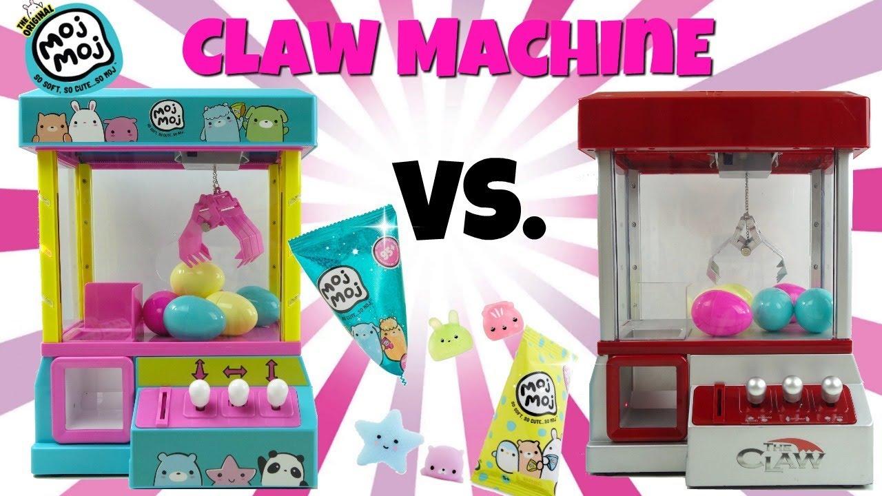 Moj Moj Claw Machine Vs The Claw Candy Grabber Crane Toy Unboxing Moj Moj Sparkle Series Squishes
