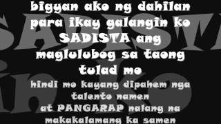 dirtyrhyme sadista crew feat twizah ( maglulubog )