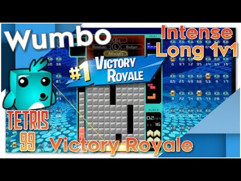 Tetris 99 - Intense Long 1v1 - Insane #1 Victory Royale