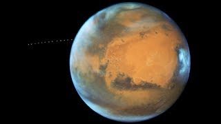 Phobos in orbit around Mars seen by Hubble (Time-lapse)