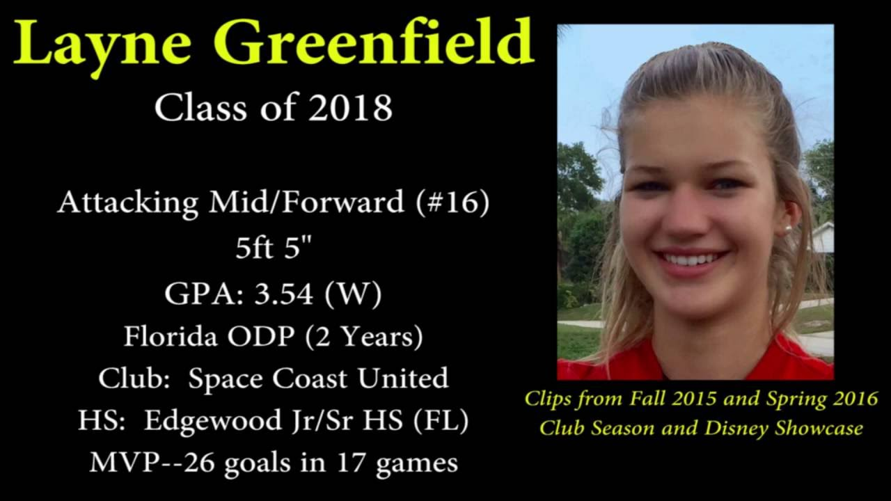 Layne Greenfield Class of 2018 Spring 2016 Soccer