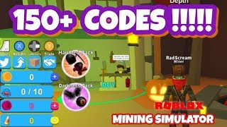 160 CODES - FREE LEGENDARY CRATES - Mining Simulator - Roblox