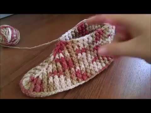 Вязания тапочек крючком видео