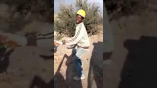 un réfugié malien en Algérie qui dance kabyle