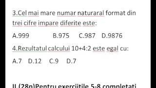 Teste Romana si Matematica!!