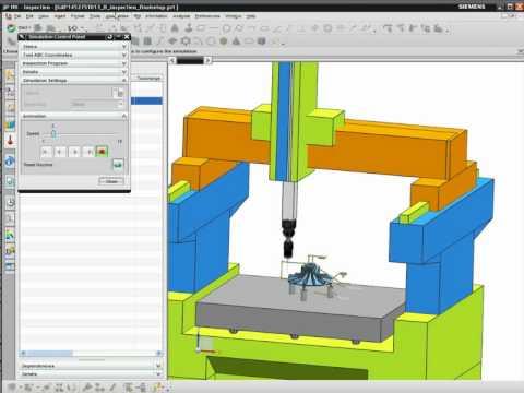 NX CMM - Demonstration of Inspection Programming software