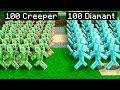 100 soldats creeper vs 100 soldats diamant dans minecraft mp3