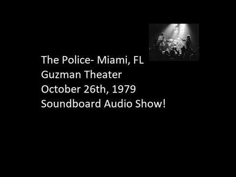 "The Police- Miami, FL ""Gusman Theater"" 10-26-1979 Full Soundboard Show"