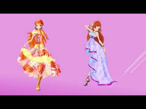 Winx Club Bloom in Different Dresses