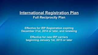 WisDOT - International Registration Plan - Full Reciprocity