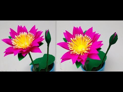 How to make Paper Flowers Water Lily \ Nymphaea (flower # 194)