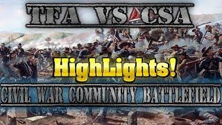 (Highlights) TFA Pushing For A Victory?! - [Roblox] Civil War Community Battlefield