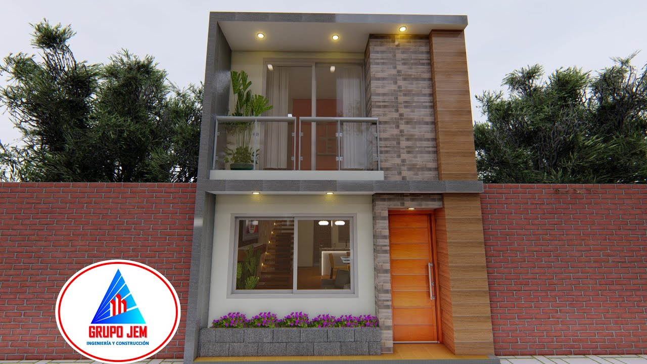 Download Casa de 5x13 mts, diseño moderno de 2 pisos, 65 M2   Grupo JEM