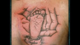 baby foot tattoo designs