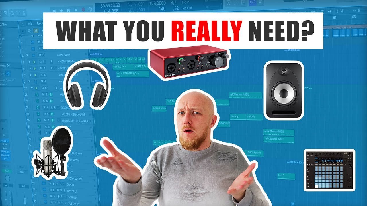 Best Music Production Equipment For Beginners Studio Gear Explained Youtube