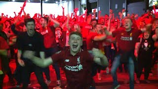 Liverpool Fans React To Winning The Champions League In Liverpool City Centre