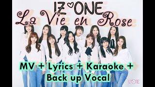 Download IZONE 🔴 La vie en rose lyrics (karaoke with vocal