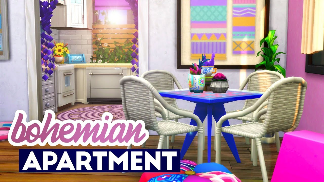 Bohemian Apartment // Sims 4 Speed Build - YouTube