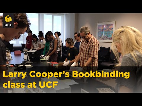 Learn papermaking and bookbinding at UCF!
