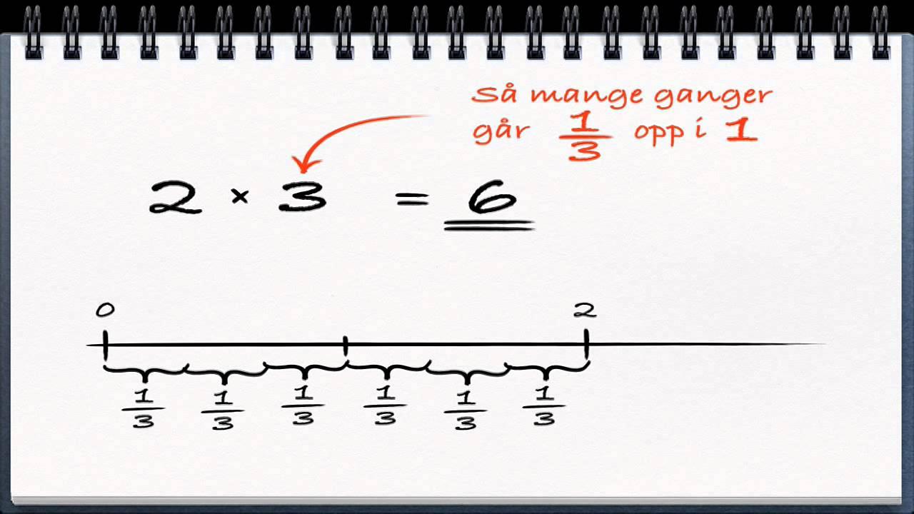Algebra video 14 - Divisjon av brøker