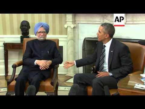 Download US President Barack Obama meets Indian Prime Minister Manmohan Singh